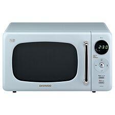 Daewoo Retro 20L 800W Manual Microwave - Blue