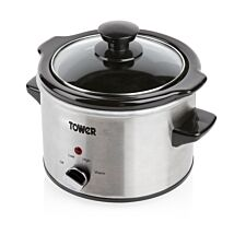 Tower T16020 1.5L Slow Cooker - Stainless Steel