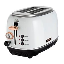 Tower T20016W 2-Slice Stainless Steel Toaster