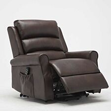 Balio Twin Motor Rise and Recline Arm Chair (XL Width) - Brown