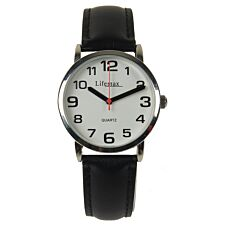Lifemax Ladies Clear Time Watch with Leather Strap