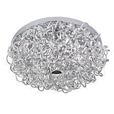 Wofi Apart LED Flush Fitting Ceiling Light -  Silver
