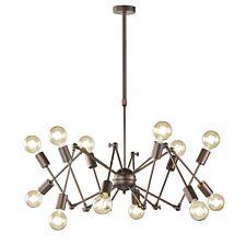 Wofi Carmona 12-Light Pendant Lamp - Antique Brown