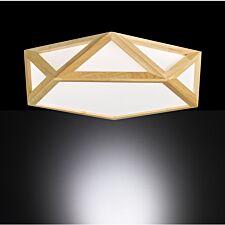 Wofi Cayenne LED Ceiling Lamp - Wooden