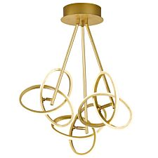 Wofi Eliot 3-LED Flush Fitting Pendant Lamp - Golden