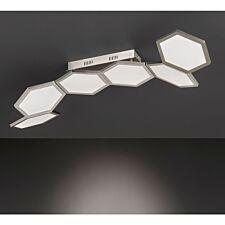 Wofi Signe LED Ceiling Lamp - Nickel Matt Finished