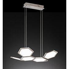 Wofi Signe LED Pendant Lamp - Nickel Matt Finished