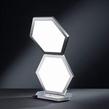 Wofi Signe LED Table Lamp - Nickel Matt Finished