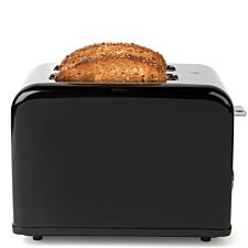 Salter EK3399BLACK Riga 815W 2–Slice Toaster – Black & Stainless Steel