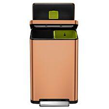 EKO X Cube Recycling Bin 40L - Copper