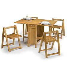 Julian Bowen Savoy Dining Set - Light Oak