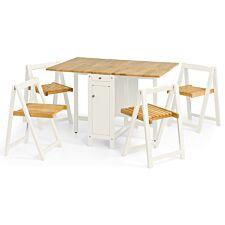 Julian Bowen Savoy Dining Set - White/Natural