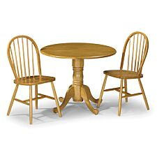 Julian Bowen Set Of Dundee Table & 2 Windsor Chairs