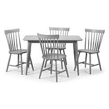 Julian Bowen Set Of Torino Dining Table And 4 Chairs - Grey