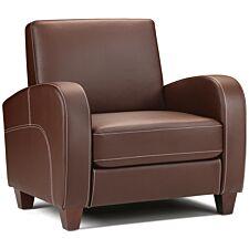 Julian Bowen Vivo Chair - Chestnut Faux Leather