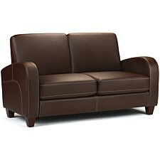 Julian Bowen Vivo 2 Seater Sofa - Chestnut Faux Leather