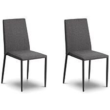 Julian Bowen Jazz Dining Chair 2 Pack - Slate Grey Linen