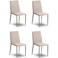 Julian Bowen Jazz Dining Chair 4 Pack - Sand Linen