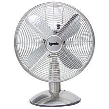 Igenix 12 Inch Desk Fan  Chrome-