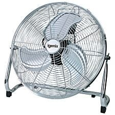 Igenix 18 Inch Floorstanding Air Circulator Fan - Chrome