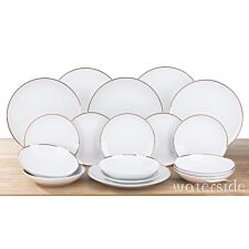 The Waterside 18pc Gold Band Dinner Set