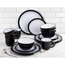 The Waterside 16pc Camden Dinner Set - Black
