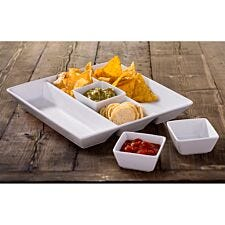 The Waterside 4 Piece Chip and Dip Serving Set - White