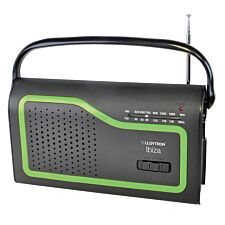 Lloytron Ibiza AM/FM Portable Radio with 4 Coloured Facia Panels - Black