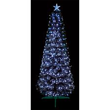 2.5ft Premier Black Pencil Christmas Tree with White LEDs