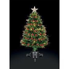 2.5ft Premier Decorations Fibre Optic Tree with Berries