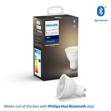 Philips Hue Smart Wi-Fi Dimmable White GU10 5.5W Bluetooth Light Bulb