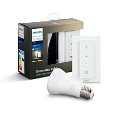 Philips Hue Smart Wi-Fi Dimmable White E27 60W Bluetooth Light Bulb Dimmer Kit