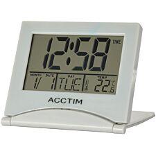 Acctim 'Mini Flip II' LCD Alarm Clock - Grey