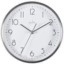 Acctim 'Ava' 15cm Silver Metal Wall/Desk Clock