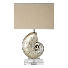 Premier Housewares Shelley Table Lamp with Natural Linen Shade