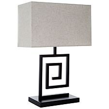 Premier Housewares Lupita Table Lamp with Metal Spiral Body & Natural Fabric Shade