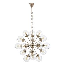 Premier Housewares Asterid Pendant Light with Clear Glass Shades