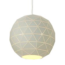 Premier Housewares Large Mateo Pendant Ceiling Light - White