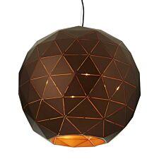 Premier Housewares Large Mateo Pendant Ceiling Light - Brown