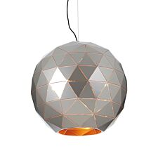 Premier Housewares Large Mateo Pendant Ceiling Light - Silver