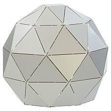 Premier Housewares Mateo Geometric Table Lamp - Silver Finish