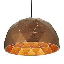 Premier Housewares Mateo Large Dome Pendant Light - Brown