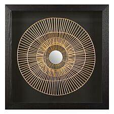 Premier Housewares  Modello Metal Wall Art - Gold/Black Finish