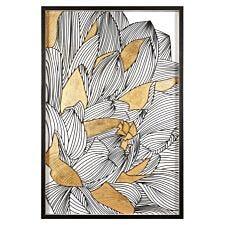 Premier Housewares Modello Botanical Wall Art - Black/Gold Finish