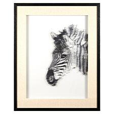 Premier Housewares Modello Zebra Sculptural Wall Art - White/Black Finish