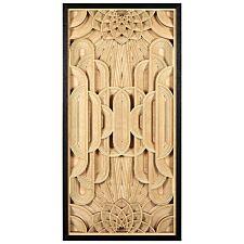 Premier Housewares Modello Art Deco Wood Carving Wall Art