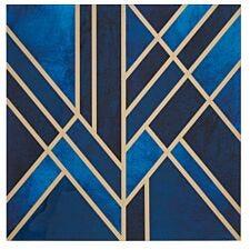 Premier Housewares Celina Art Deco Wall Art - Blue/Gold Finish