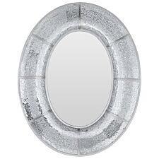 Premier Housewares Wren Mosaic Oval Wall Mirror - Silver