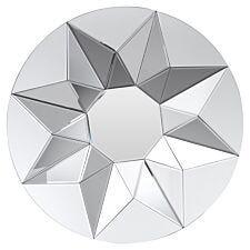 Premier Housewares Wanda 3D Round Wall Mirror