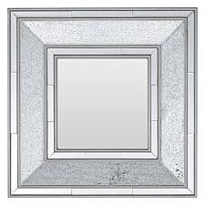 Premier Housewares Wilma Mosaic Wall Mirror - Silver